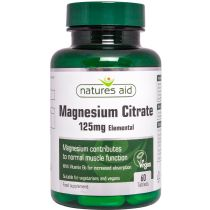 Magnesium 125mg Citrate (with Vitamin B6)